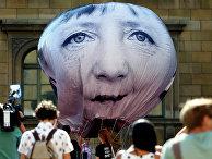 Акция протеста против саммита G7 в Мюнхене