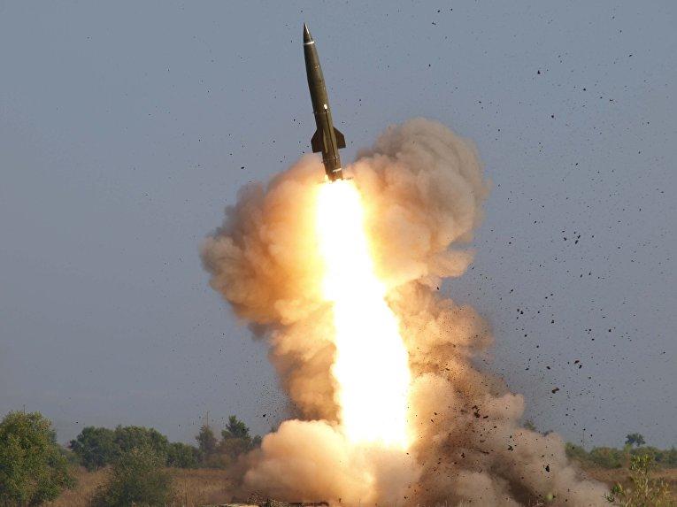 Боевой пуск ракеты «Точка-У»