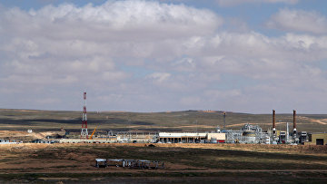 "Газовое месторождение ""Аш-Шаер"" на западе провинции Ракка"