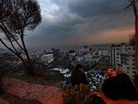 Вид на вечерний Тегеран. Иран
