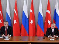 Владимир Путин и премьер-министр Турции Реджеп Тайип Эрдоган, архивное фото