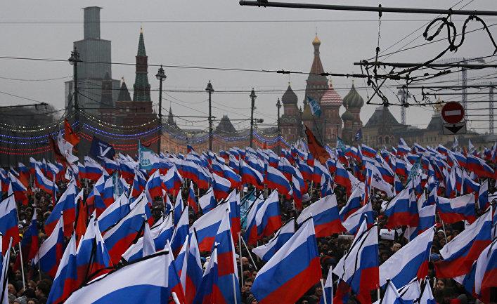 Марш памяти Бориса Немцова в Москве