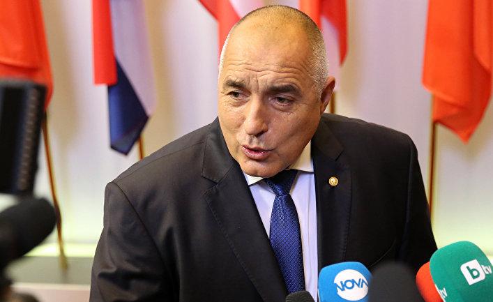 Премьер-министр Болгарии Бойко Борисов на саммите ЕС в Брюсселе