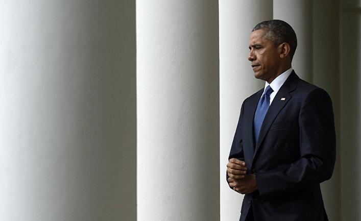 Барак Обама в Белом доме в Вашингтоне