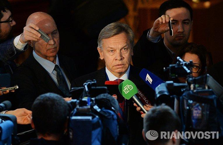 Председатель комитета Государственной Думы РФ по международным делам Алексей Пушков