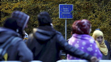 Беженцы на австро-германской границе