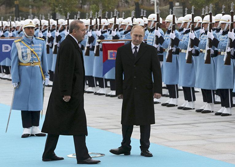 Встреча Владимира Путина и Реджепа Тайипа Эрдогана