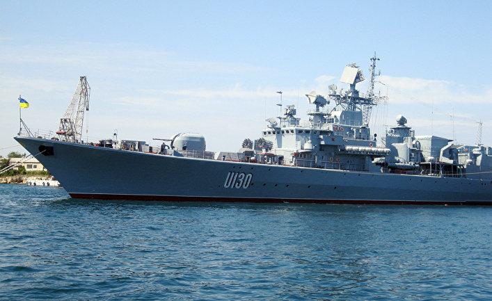"""Флагман Военно-морских сил Украины фрегат """"Гетман Сагайдачный"""""""