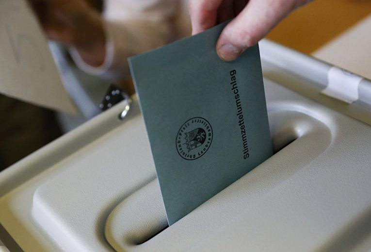 Голосование во время региональных выборов в Бад-Кройцнах