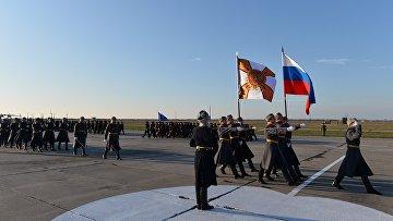 Торжественная встреча российских самолетов с авиабазы Хмеймим в Приморско-Ахтарске