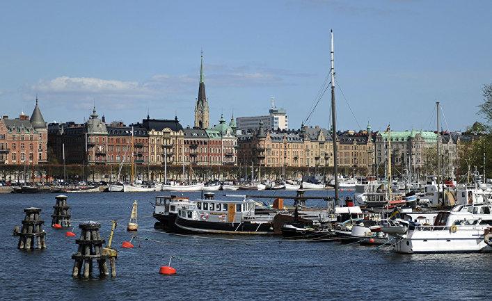 Вид на город Стокгольм, Швеция