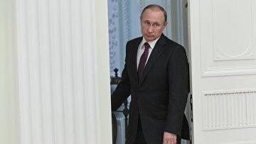 Президент РФ Владимир Путин прибыл на встречу с президентом Сербии