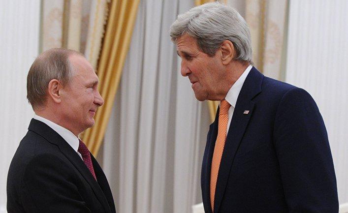Встреча президента РФ В. Путина с государственным секретарем США Дж.Керри