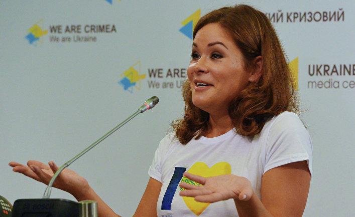 Пресс-конференция Марии Гайдар в Киеве