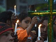 Паксистанские христиане на акции памяти жертв теракта в Лахоре