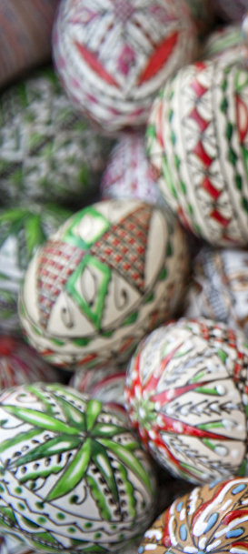 Пасхальные яйца на ярмарке в Бухаресте