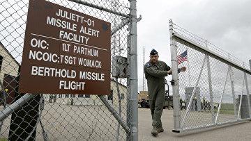 Пункт управления пуском межконтинентальных баллистических ракет на авиабазе Майнот в Северной Дакоте