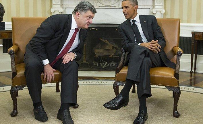 Встреча Петра Порошенко с Бараком Обамой в Вашингтоне