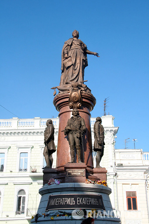 В Одессе открыт памятник Екатерине ІІ