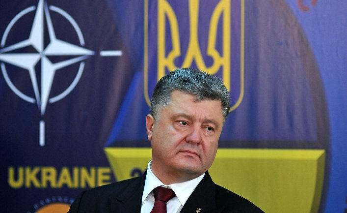 Президент Украины Петр Порошенко на пресс-конференции в Международном центре миротворчества и безопасности