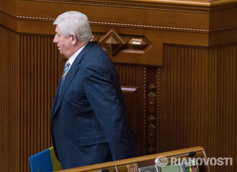 Виктор Шокин выступает во время заседания Верховной рады Украины