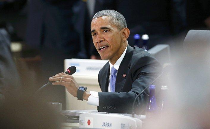Президент США Барак Обама во время встречи в рамках саммита по ядерной безопасности в Вашингтоне