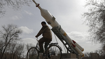 Ракета «Союз» в городе Байконур