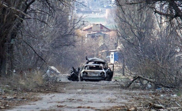 Представители ОБСЕ посетили район поселка Пески в Донецкой области