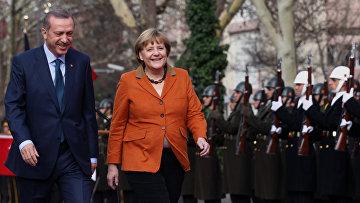 Канцлер Германии Ангела Меркель и премьер-министр Турции Реджеп Тайип Эрдоган