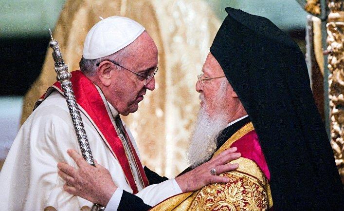 Встреча Папы Франциска с Патриархом Константинопольским Варфоломеем I в Стамбуле