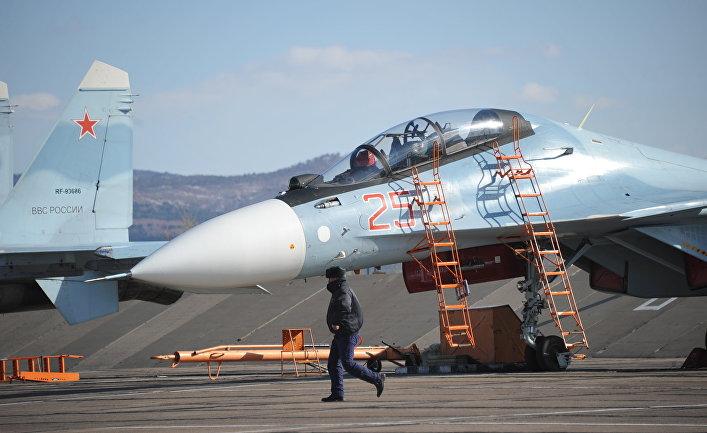 Учебно-тренировочные полеты истребителей Су-30 в Забайкальском крае