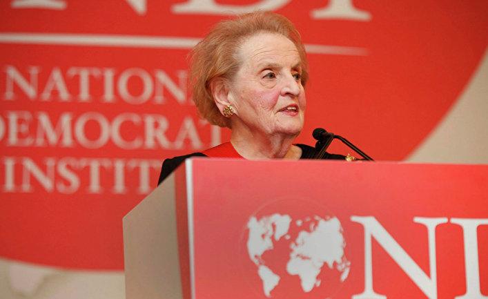 Глава Национального демократического института США , экс-госсекретарь США Мадлен Олбрайт