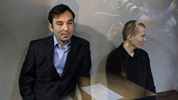 Евгений Ерофеев и Александр Александров перед началом заседания Голосеевского районного суда в Киеве
