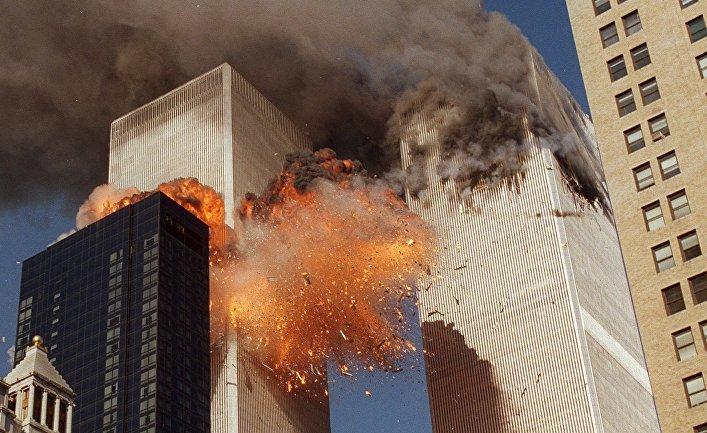 Пожар во Всемирном торговом центре во время террористических актов 11 сентября 2001 года