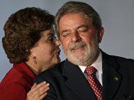 Дилма Руссефф и Лула да Силва на встрече в Бразилиа