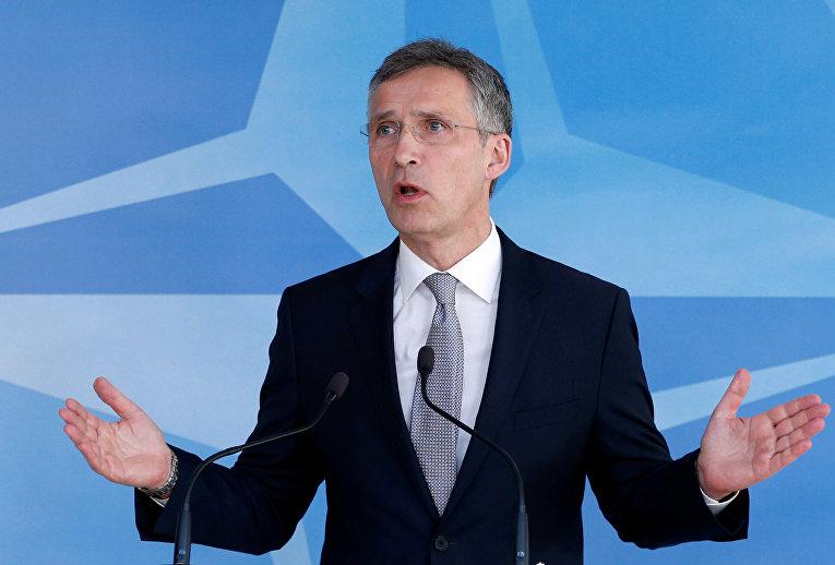 Генеральный секретарь НАТО Йенс Столтенберг после заседания Совета Россия-НАТО
