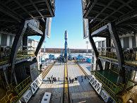«Сухой вывоз» ракеты «Союз-2.1а» на космодроме «Восточный» в Амурской области