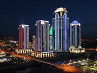 Вид на комплекс высотных зданий «Грозный-Сити»