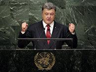 Президент Украины Петр Порошенко выступает на 70-й сессии Генеральной Ассамблеи ООН