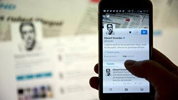 Twitter аккаунт бывшего сотрудника ЦРУ и Агентства национальной безопасности США Эдварда Сноудена