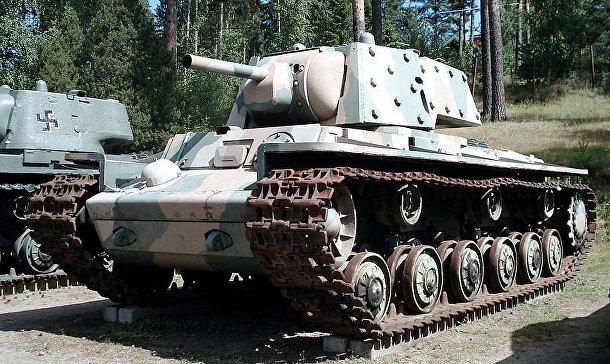 Советский танк КВ-1Э 1941 г. выпуска