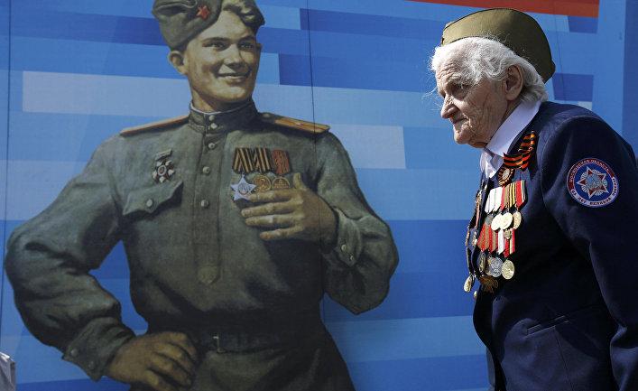 Ветеран Великой Отечественной войны на Параде Победы в Москве