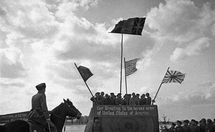 Встреча на Эльбе советской и американской армий