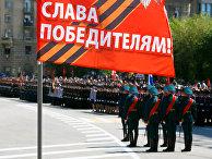 Участники военного парада в Волгограде