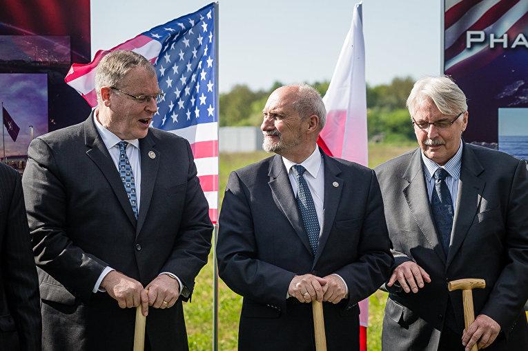 Церемония закладки базы противоракетной обороны в Редзиково
