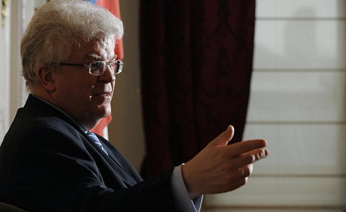 Посол России в Брюсселе Владимир Чижов отвечает на вопросы журналистов