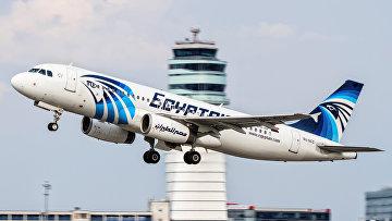 Фотография потерпевшего крушение пассажирского самолета A320 авиакомпании EgyptAir