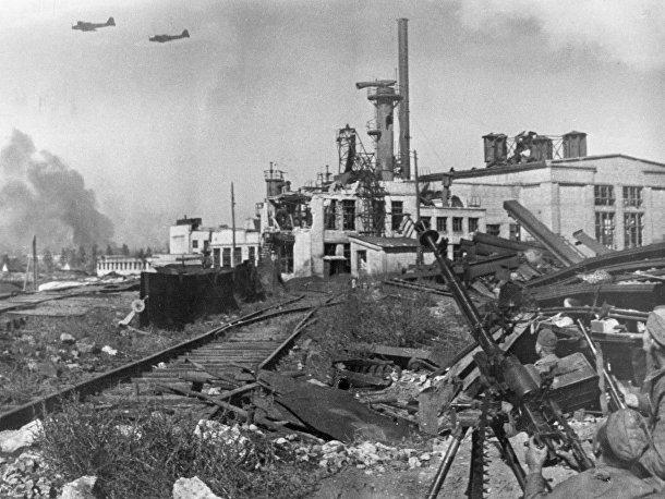 Бои в районе завода «Красный Октябрь»