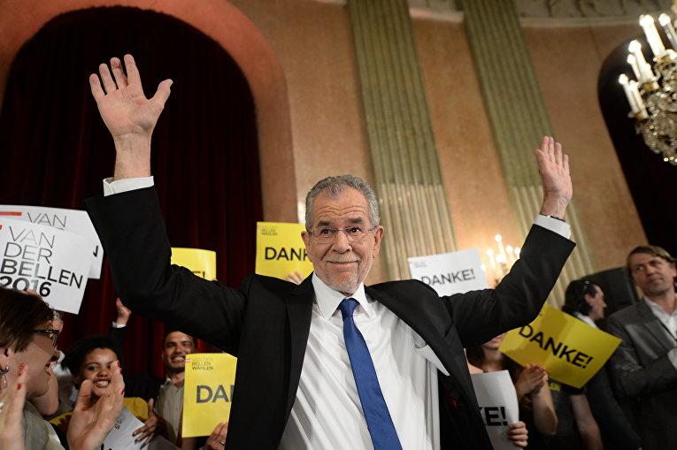 Президентом Австрии избран бывший лидер «Зеленых» Александр Ван дер Беллен