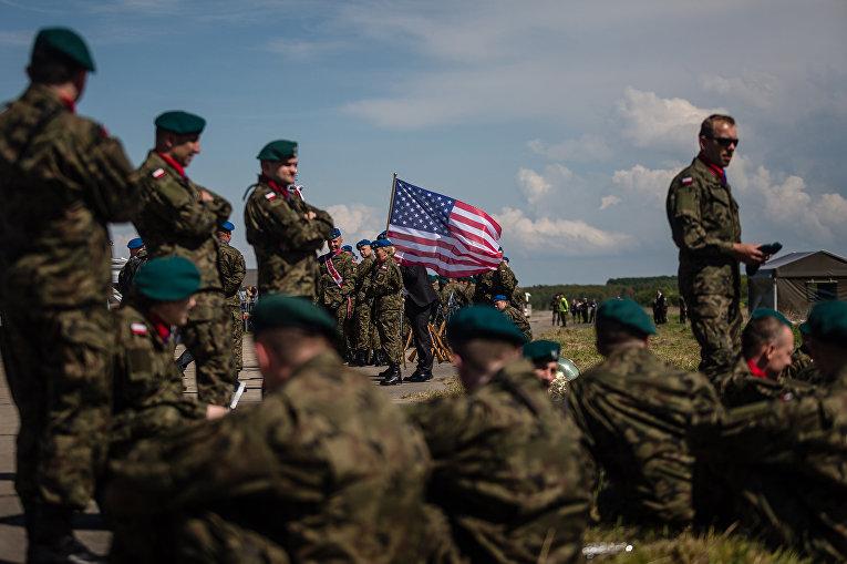 Церемония закладки первого камня базы ПРО США в Польском Редзиково